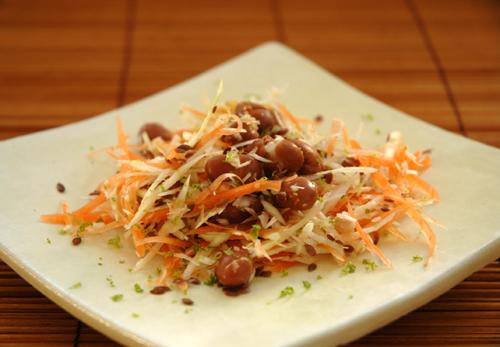 Salade borlotti chou carotte deux vue 1