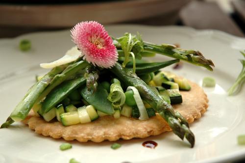 Tarte fine legumes printemps vue 1