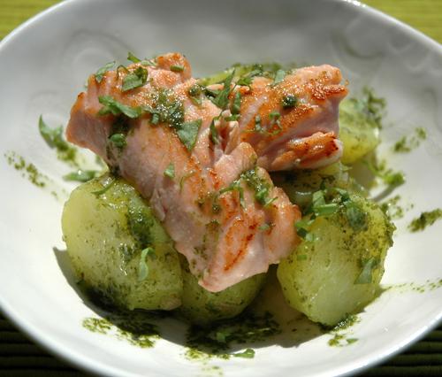 Salade pomme de terre oseille saumon onze vue 1