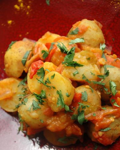 Poelee de pommes de terre epices deux vue 1