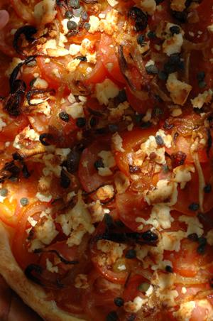 Tarte tomates oignons vue 1