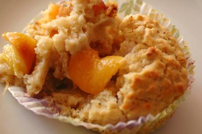 Muffins peches vue 1