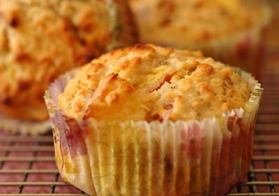 Muffins peches deux vue 1