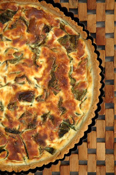 Swiss chard goat cheese tart