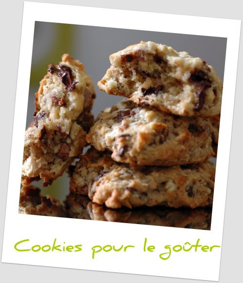 Cookies banane chocolat amandes vue 1