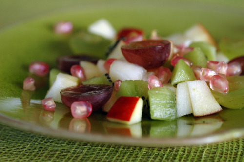 Salade fruits automne vue 1