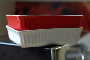Plat gratin rouge vue 1