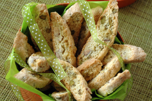 Biscotti amandes pistache anis vue 1