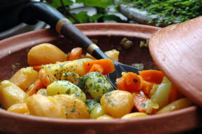 Tagine legumes racine vue 1