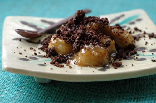 Crumble banane chocolat vue 1