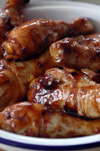 Pilons poulet cramelises deux vue 1