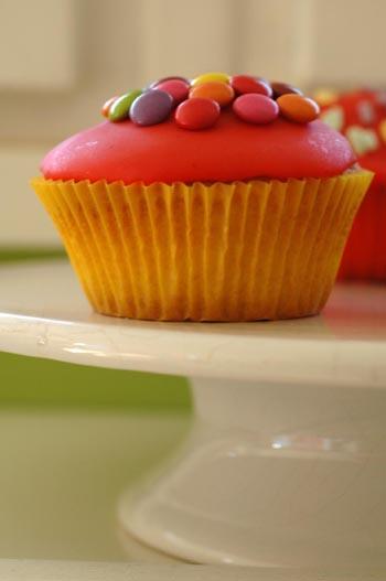 Cupcake smarties plateau vue 1