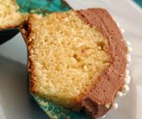 Cupcake chocolat ouvert vue 1
