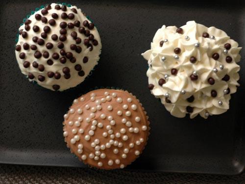 Trio cupcakes chocolat deux vue 1