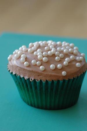 Cupcake chocolat perles vue 1