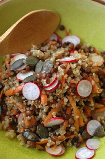 Salade quinoa lentilles vue 1