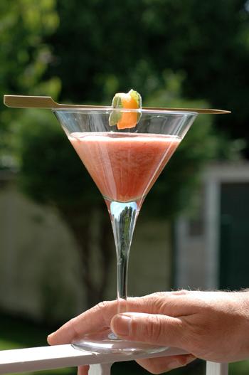 Coktail melon framboise deux vue 1