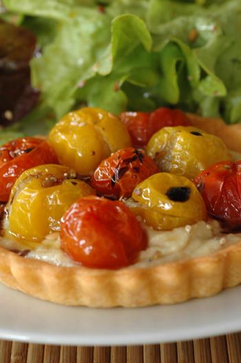 Tartelette artichaud tomates vue 1