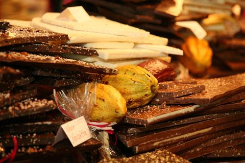 Chocolat tablettes et cabosses vue 1