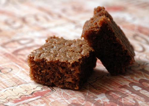 Brownie chocolat caramel vue 1