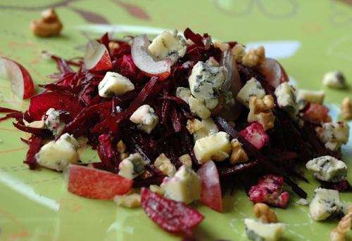 Salade betterave fourme ambert deux vue 1