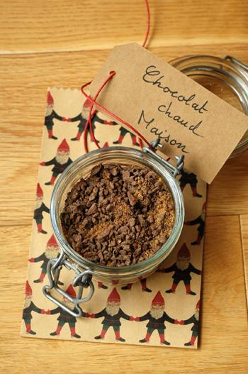 Melange chocolat chaud cadeaux gourmands bocal vue 1