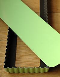 Moule tarte gobel vert anis rectangulaire vue 1