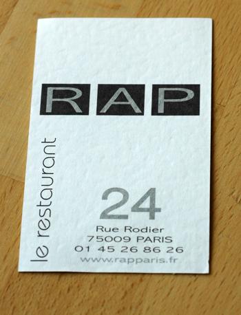 Rap restaurant vue 1