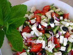 Salade grecque vue 1