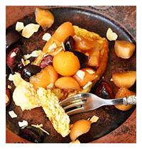 Briche facon pain perdu melon cerise vue 2