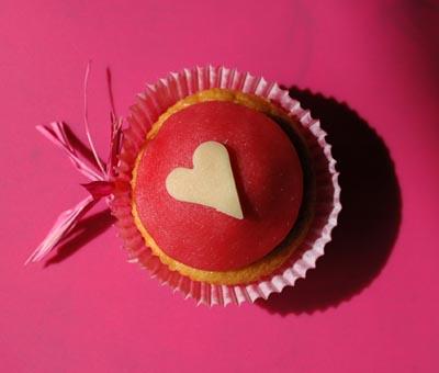 Cupcake coeur deux vue 1