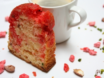Cake pralines roses