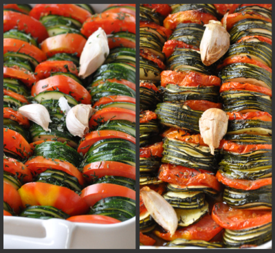 Duo tian courgettes et tomates vue 1