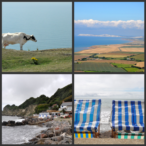 Ile de wight collage quatre vue 1