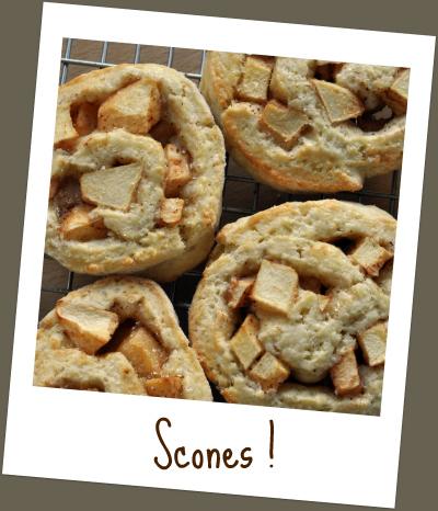 Scones roules pommes diapo vue 1