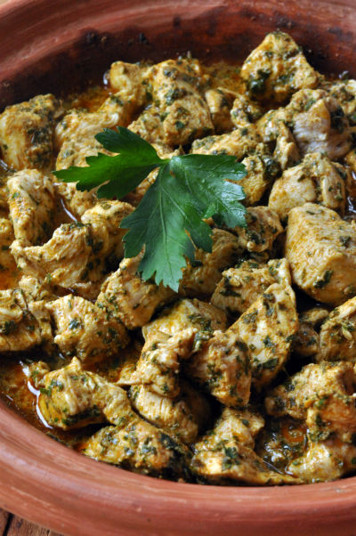 Tagine poulet a la chermoula apres cuisson vue 1