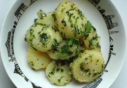 Salade pomme de terre fines herbes vue 2