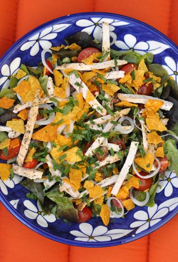 Salade poulet croquante vue 1