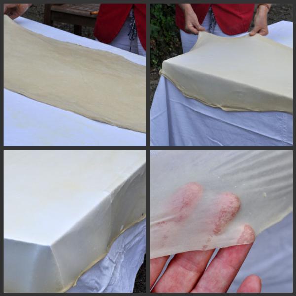 4 etaler pate sur table pour tourtiere landaise vue 1