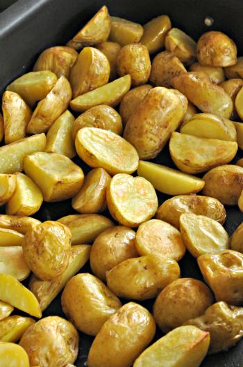 Pommes de terre primeur bonnottes roties vue 1