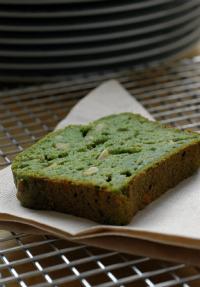 Cake tout vert aux épinards vue 1