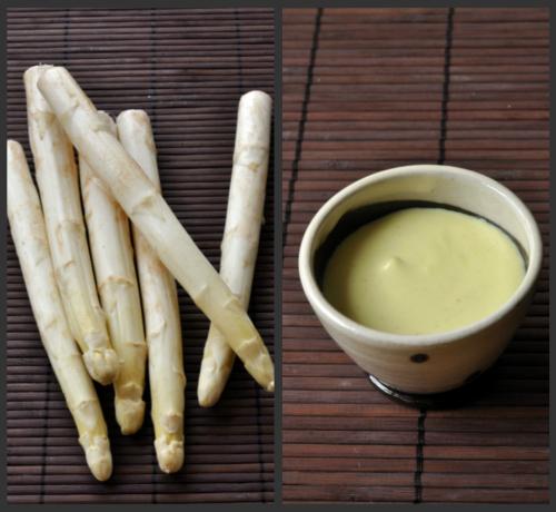 Asperges blanches sable des landes sauce brebis savora