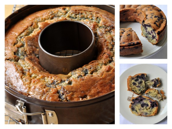Bluberry buttermilk bundt cake