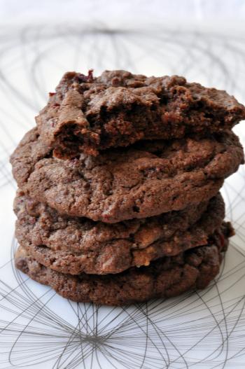 Cookies chocolat betterave deux vue 1