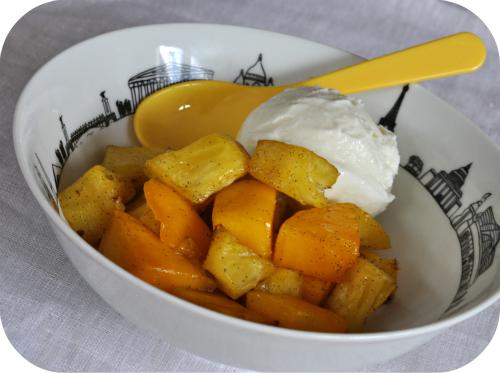 Ananas mangue rotis glace coco vue 1