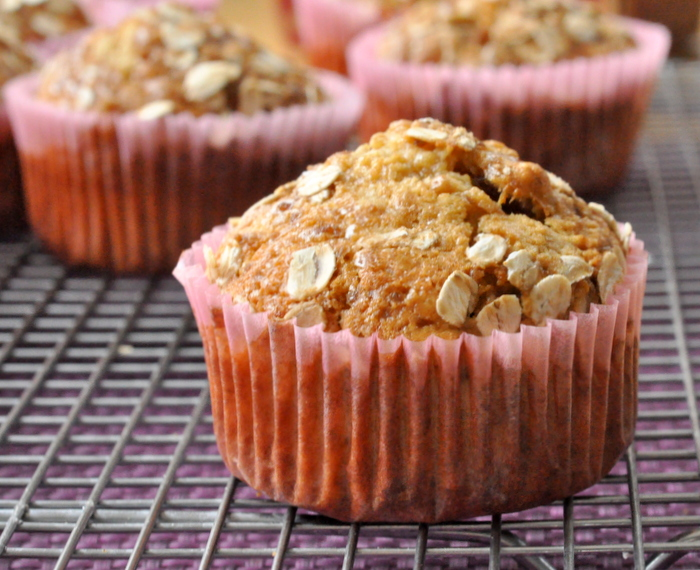 Muffins flocons avoine muscovado abricots dattes