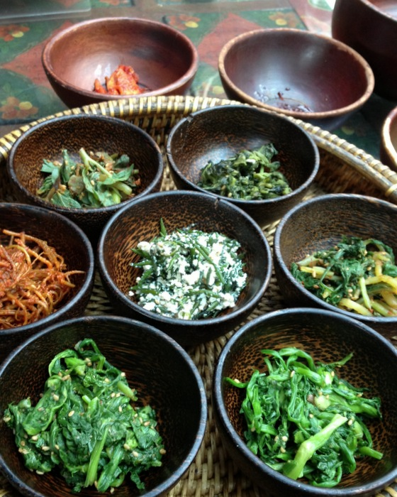 Namul ensemble de légumes asaisonnés