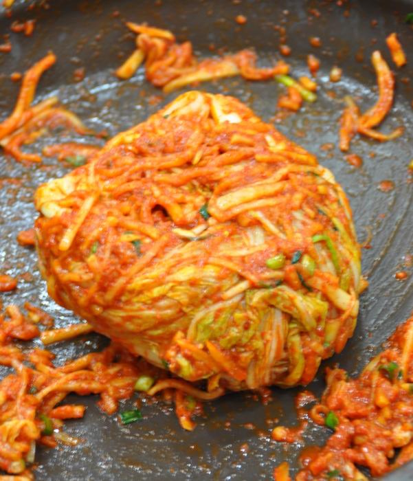 Kimchi avant fermentation