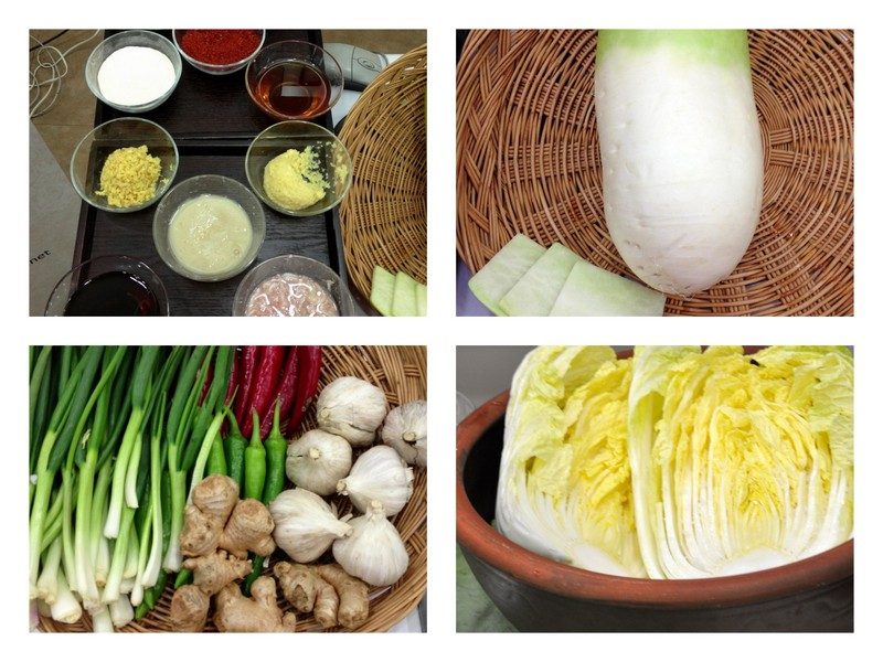 Les ingrédients du Kimchi