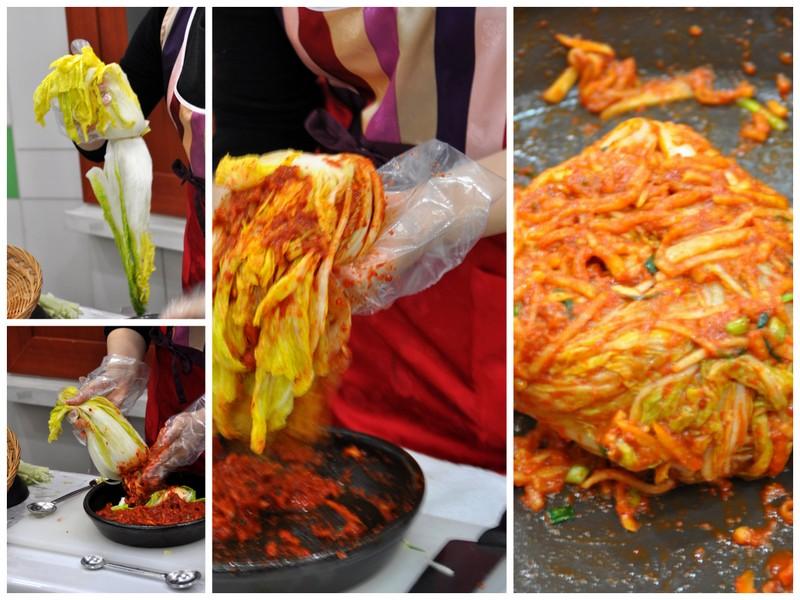 Preparation du kimchi musee kimchi seoul